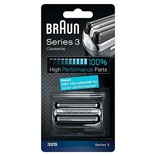 (Braun Replacement Foil & Cutter Cassette - 32S, Series 3 - Silver)