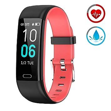 Pulsera Actividad - Reloj Inteligente Monitor de Ritmo Cardíaco Impermeable Fitness Trackers con Monitor de sueño Podómetro Multi Deporte ...