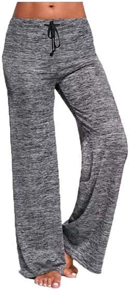 Boni Caro Pantalon de pyjama pour femme Coupe large Confortable Doux /Ét/é Hiver Maison