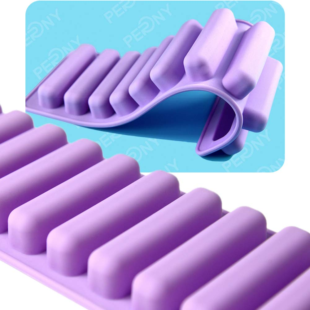 PERNY Silicone Ice Stick Tray, Easy Push Pop Out Narrow Ice Stick Cubes for Sport and Water Bottles. Pack of 2 by PERNY (Image #3)