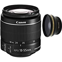 Canon 18-55mm IS STM Lens (WHITE BOX) + High Definition Wide Angle Auxiliary Lens