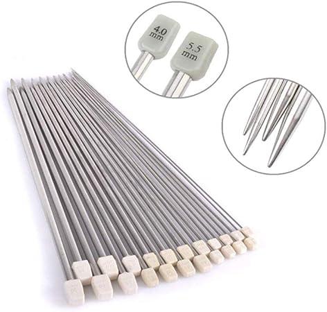 "Metal Knitting Needles size  4.5 mm  uk 7 L 10/"""