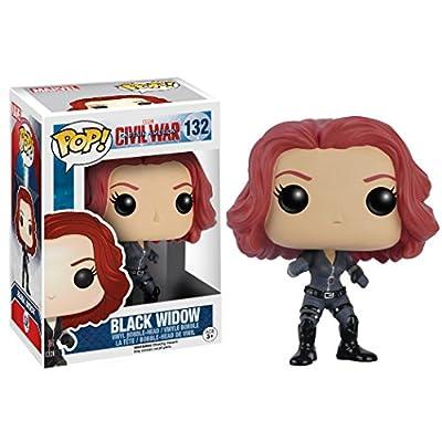 Funko POP Marvel: Captain America 3: Civil War Action Figure - Black Widow: Funko Pop! Marvel:: Toys & Games