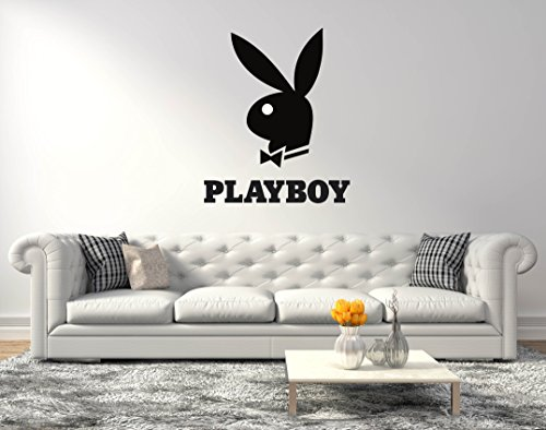 (Playboy Bunny Logo - Wall Decal for Home Living Room or Bedroom Decoration Active (Wide 20