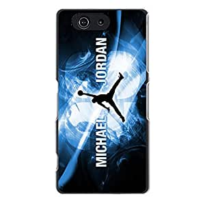 Charming Design Luxury Jordan Logo Cover Case for Sony Xperia Z3 Compact Modish Sportswear Series Phone Case