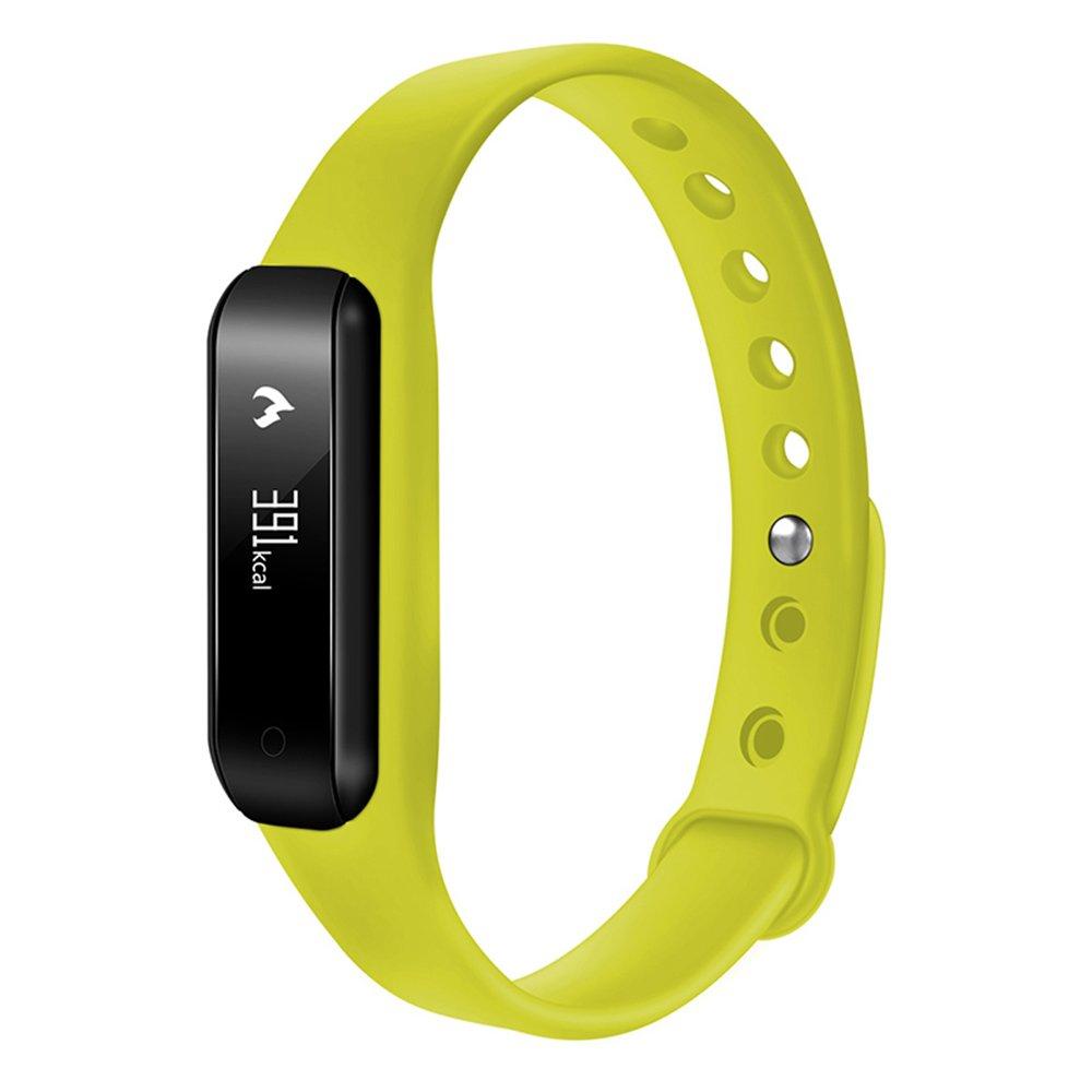 Sport Fitness rastreadores, para Izefia S3 pulsera inteligente Fitness banda con deporte podómetro, Yellowgreen: Amazon.es: Deportes y aire libre