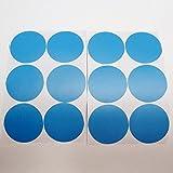 QZT 24Pcs Rainbow Multi Color Size Confetti Polka Dots Circles Vinyl Decals Wall Stickers For Home Decor,M2S1 12sky blue 25mm