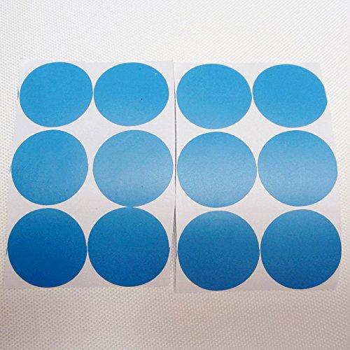 QZT 24Pcs Rainbow Multi Color Size Confetti Polka Dots Circles Vinyl Decals Wall Stickers For Home Decor,M2S1 12sky blue 25mm by QZT