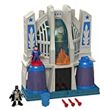 Imaginext Hall of Justice with Batman and Superman Figures with Dart Launcher, Toy Suitable from 3 Year Old