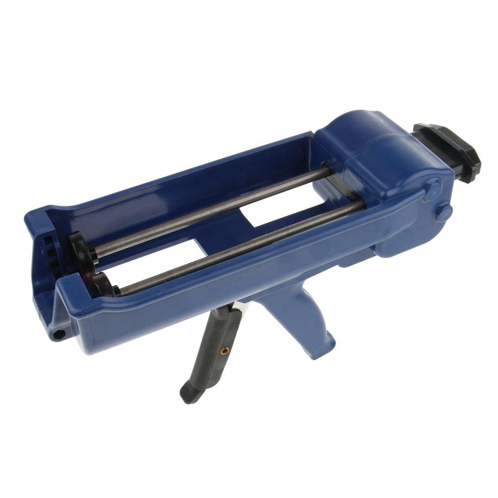 Baosity 400ml Cartridge, Double-barrel Steel Caulk Dispenser Sealant Gun