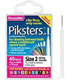 Piksters Interdental Brush Pack Of 40 Size 2 White