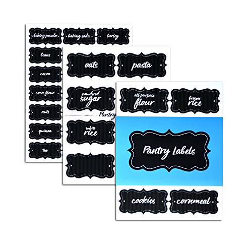 Home Advantage Pantry Labels (Black Pinstripe)