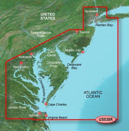 - Garmin BlueChart g2 Vision - VUS038R - New York - Chesapeake - microSDTM/SDTM (35806)