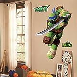 kids stickers ninja - Teenage Mutant Ninja Turtles Leo Peel And Stick TMNT Wall Decals Sticker For Boys Kids Room Comic Wall Art Decor