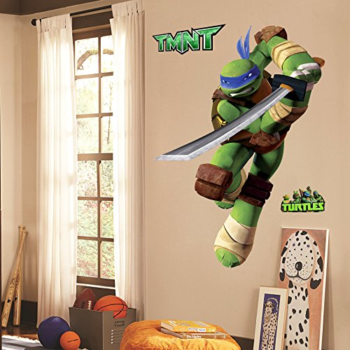 Teenage Mutant Ninja Turtles Leo Peel And Stick TMNT Wall Decals Sticker For Boys Kids Room Comic Wall Art Decor -