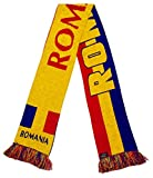 International Soccer Romania Jacquard Knit Scarf, One Size, Red/Blue/Yellow