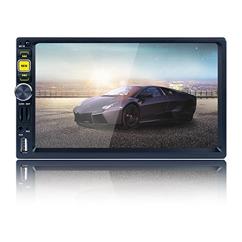 Car Stereo Radio Double Din Navigation 7 Inch Touchscreen with WiFi and Free Backup Camera
