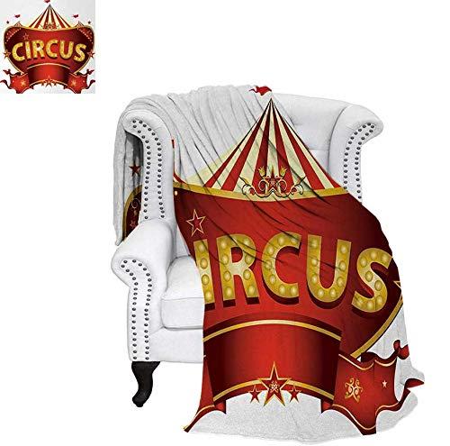 Velvet Plush Throw Blanket A Circus Sign Baroque Style Big Top Enjoyment Theme Marquee Nightlife Retro Throw Blanket 50