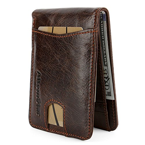 High-End Wallet for Men Genuine Cowhide Leather with RFID Blocking (Brown#2)