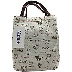 af34b1fb75 Cute Cat Lunch Bag Reusable Lunch Tote Bag Insulated Cooler Bag Handbag  with Velcro Closure for