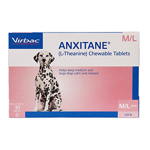 Virbac Anxitane Tablets, Medium/Large Dog, 100 mg, 30 Count by Virbac