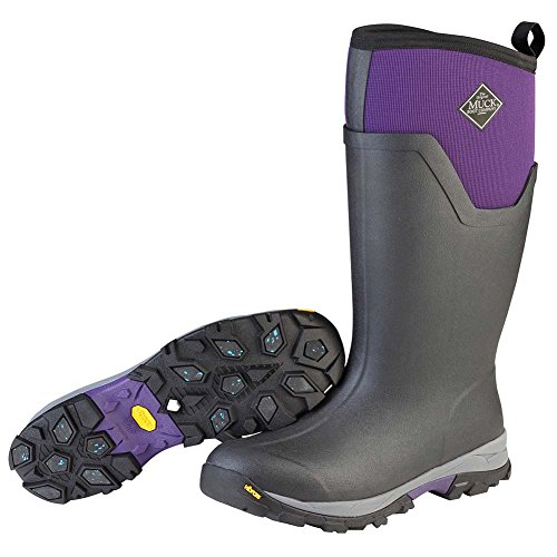 Muck Boot Women's Arctic Ice Tall Work Boot, Black/Purple, 9 M US by Muck Boot