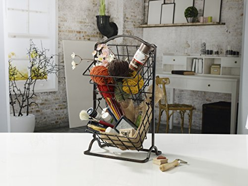 Mikasa Gourmet Basics 2-Tier Flatback Basket Display Fruit Kitchen Antique Wire