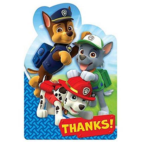 Paw Patrol Thank You Notes w/ Envelopes (8ct) -