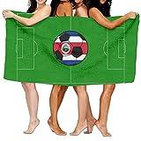 SWEET-YZ Love Costa Rica Soccer Moisture Absorption Bath Towels Beach Towels For Adult & Teen