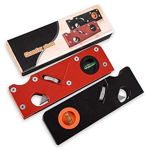 Mini pianificatore manuale, pialla con una sola mano, pialla Woodworking Edge Corner, pialla a 45°, perfetta per la lavorazione del legno, per rifinire, piallare il legno, nero