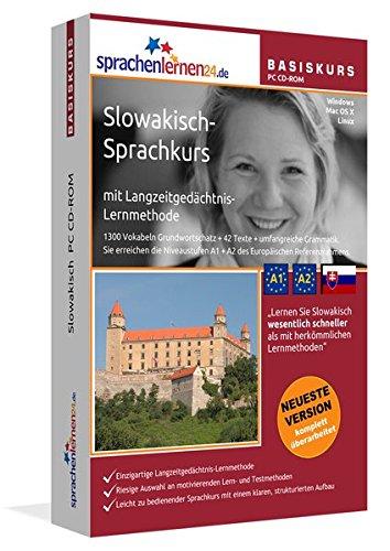 Slowakisch-Basiskurs mit Langzeitgedächtnis-Lernmethode von Sprachenlernen24: Lernstufen A1 + A2. Slowakisch lernen für Anfänger. Sprachkurs PC CD-ROM für Windows 10,8,7,Vista,XP / Linux / Mac OS X
