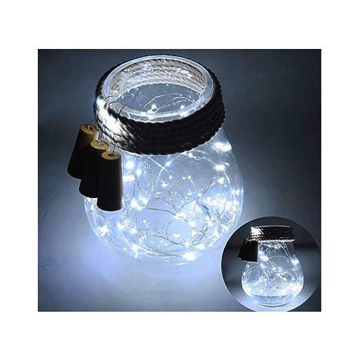 Ankamal Elec 6PCS LED Botella Corcho Luz de cadena, 20LED 70in (180cm) Botella de vino Corcho Spark Estrellado Hada Luz de cadena Con pilas (Incluido) ...