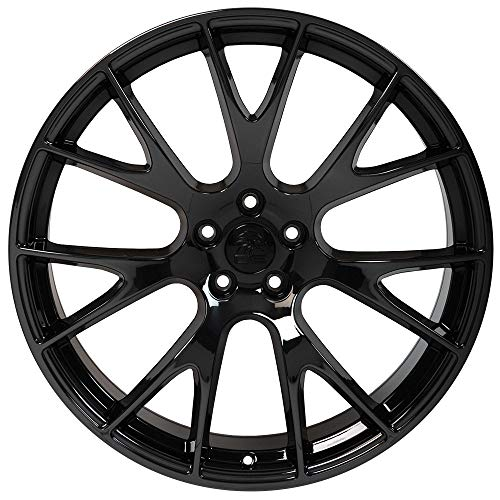 22 Inch Black And Chrome Rims - Partsynergy Replacement For 22