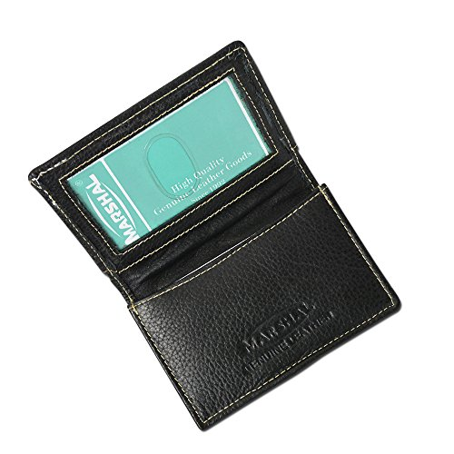 - 100% Leather Business Card Holder Black #96-70
