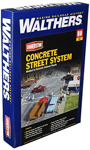 Ho Concrete (Walthers Cornerstone Series Kit Full Set HO Scale Concrete Street System)