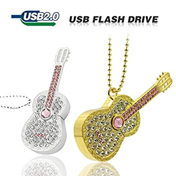 Diamond Crystal Guitarra eléctrica instrumento musical guitarra USB unidad Flash Memory Stick Pen Drive 8 GB