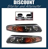 This Is A Brand New Aftermarket Passenger & Driver Side Headlight Assembly Pair That Fits A 2000-2004 Pontiac Bonneville DOT SAE Approved OE Replacement Composite Combination Type Clear Plastic Lens With Bulbs