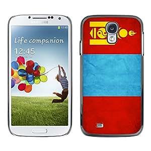 TopCaseStore / la caja del caucho duro de la cubierta de protección de la piel - Mongolia Grunge Flag - Samsung Galaxy S4 I9500