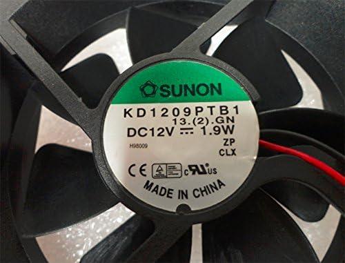 Sunon 9cm fan #KD1209PTB1 1.9W 2-pin cooling fan 2800RPM 49CFM; 35dBA