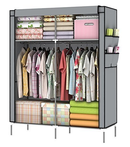 Whitmor Fabric Clothes Closet - YOUUD Closet Portable Closet Organizer Portable Wardrobe Closet Clothes Closet Portable Closet Wardrobe Closet Organizer Closet Clothes Portable Clothes Closet Clothes Storage Organizer Gray