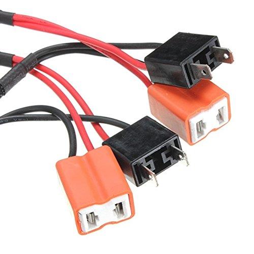 Pack of 2 H13 50W 6Ohm LED Light Bulb Load Resistor Adapter Decoder Equalizer Warning Canceller Fix Flashing//Flickering//Blinking Error Free For Headlight Fog Light DRL Turn Single Light
