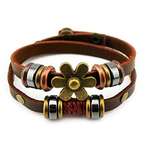 more-fun-fashion-charm-flower-button-2-row-leather-adjustable-length-wrap-bracelet-sexfoil