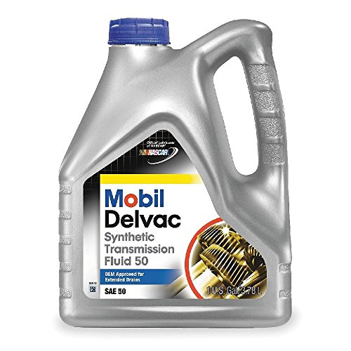 Mobil (112812-4PK) Delvac Synthetic Transmission Fluid 50 - 1 Gallon, (Pack of 4)