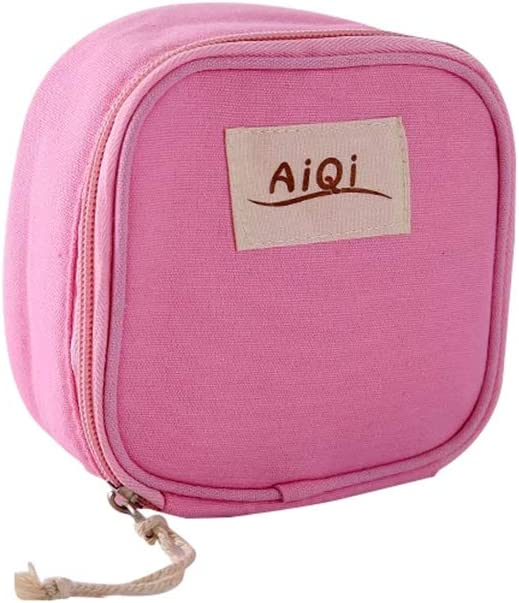 Gran capacidad portátil higiénico servilleta almacenamiento bolsa viajes aseo bolsa multifuncional Organizador bolsa rosa roja: Amazon.es: Salud y cuidado personal