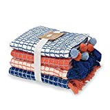 Mud Pie Coral Dish Towel Set