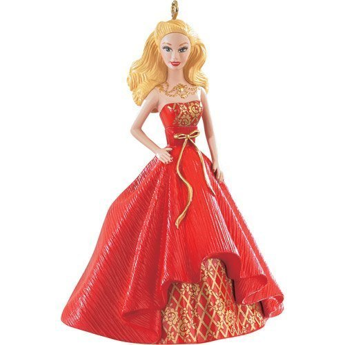 - 1 X Holiday Barbie Caucasian 2nd in Series 2014 Carlton Heirloom Ornament