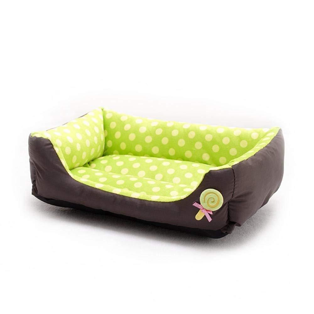Gwanna Pet Supplies Thermal wave point pet nest dog sofa bed cat nest lollipop Teddy Dog Nest Soft Pad for Pets Sleeping