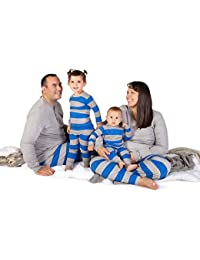 Family Jammies, Blue Rugby Stripe, Holiday Matching Pajamas