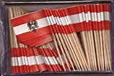 25 Box Wholesale Lot of Austria Toothpick Flags, 2500 Small Austrian Flag Toothpicks or Cocktail Picks