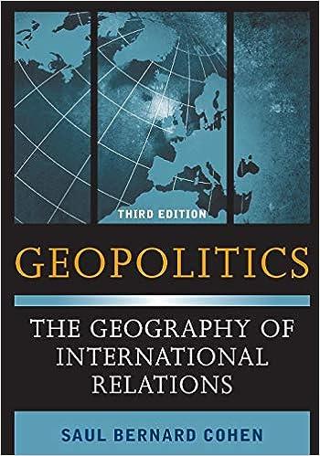 Amazon com: Geopolitics: The Geography of International Relations